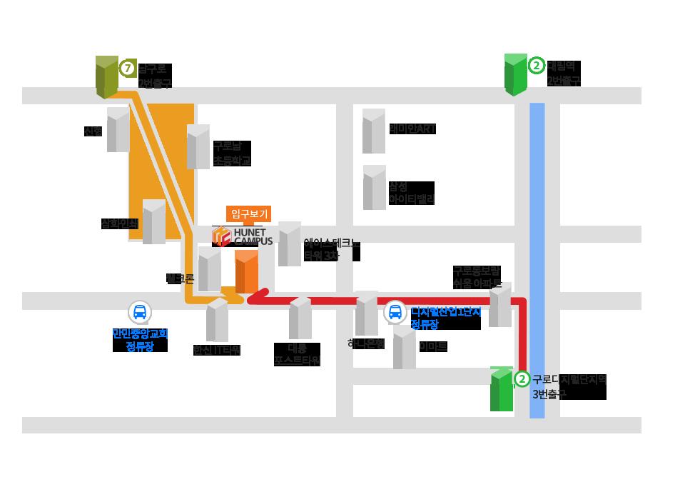대중교통 이용시 지도