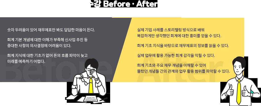 수강 Before After