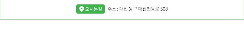 주소 : 대전 동구 대전천동로 508